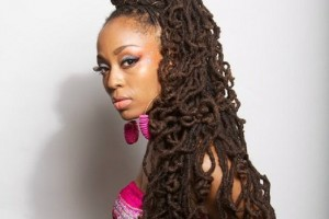 Hair Style , 7 Charming Loc Styles For Long Hair : Long Loc Updo