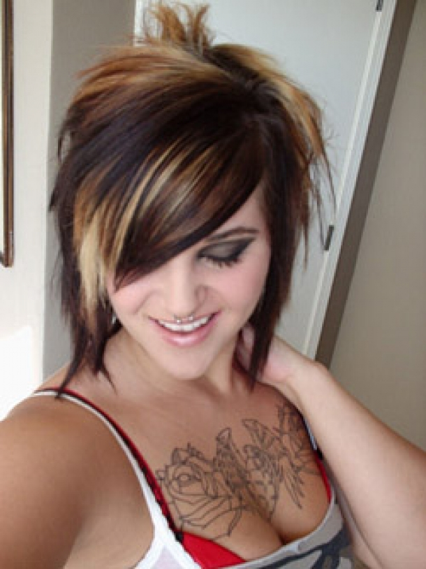 Awesome 7 Cute Short Emo Hairstyles For Girls Woman Fashion Short Hairstyles For Black Women Fulllsitofus