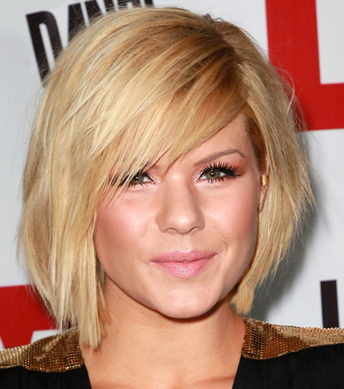 Short Hairstyles Round Face Thin Hair Woman Fashion