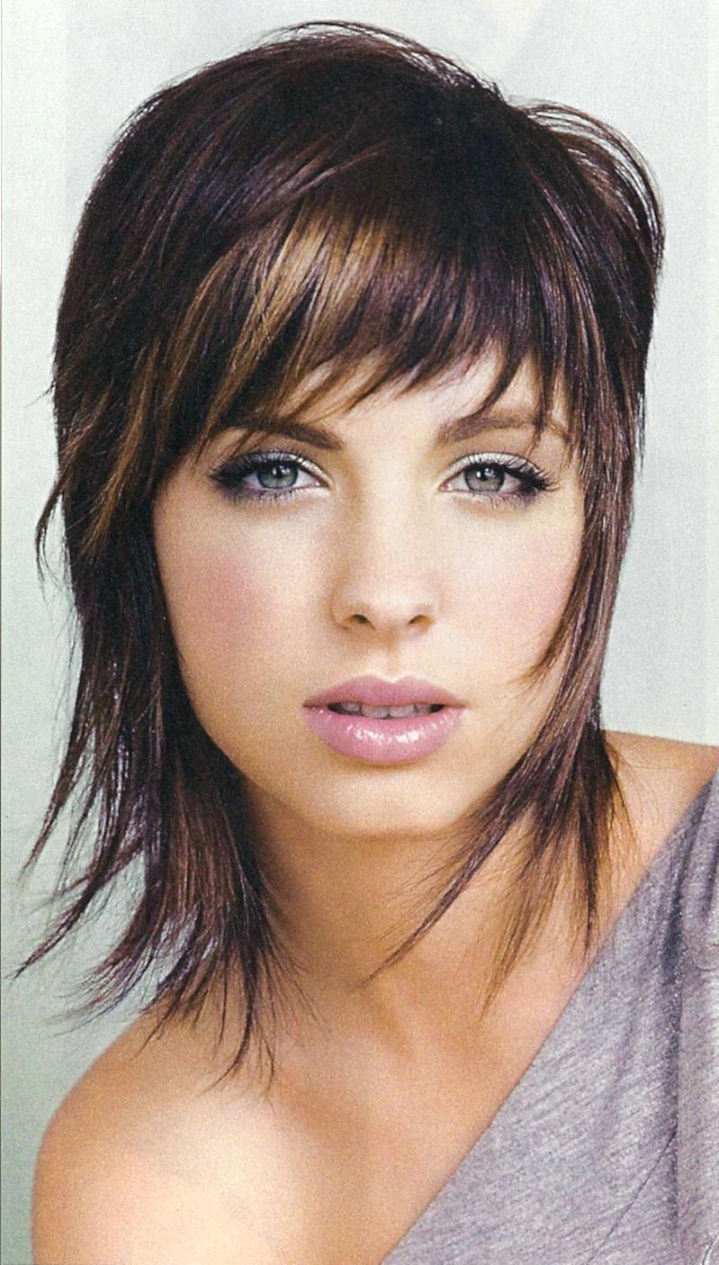 Cute Wispy Medium Length Shag Haircut : Woman Fashion - NicePriceSell.com