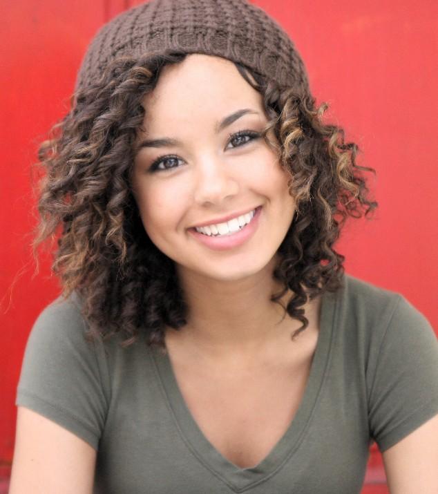Hair Style , 9 Wonderful Curly Styles For Medium Length Hair : Cute Medium Wavy Curly Hairstyle For Girls