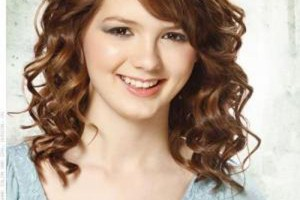 Hair Style , 7 Fabulous Medium Length Hair Styles For Curly Hair : Medium Length Curly Hair