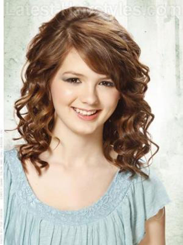 Medium Length Hairstyles For Curly Hair and hair color ideas