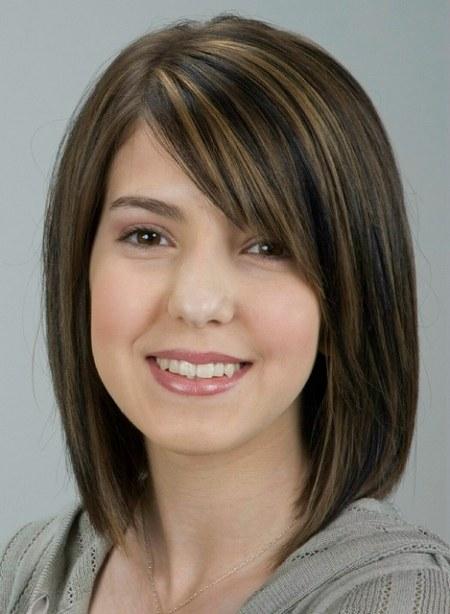 Medium length hairstyles with bangs 8 cute medium length hair large 450 x 614 urmus Choice Image