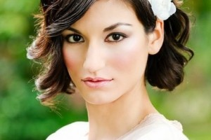 Hair Style , 8 Beautiful Bridesmaid Hairstyles For Short Hair : Short Wavy Curly Wedding Hairstyles