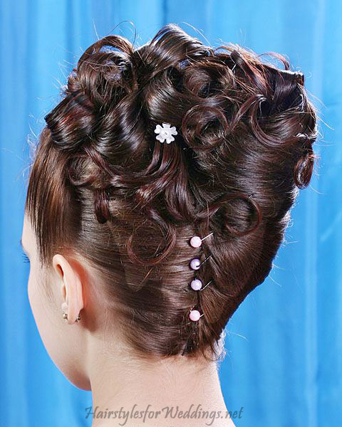 Updo Wedding Hairstyles For Medium Hair : Woman Fashion