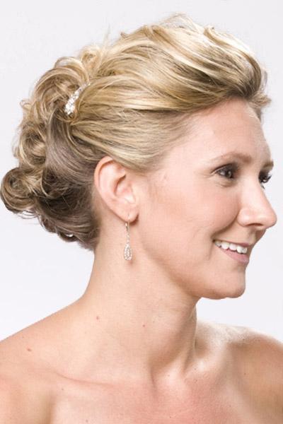 Hair Style , 8 Nice Wedding Hair Styles For Medium Length Hair : Updo Wedding Hairstyles