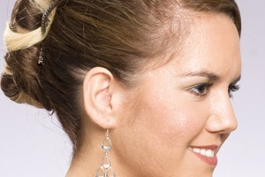 Hair Style , 9 Nice Updo Styles For Medium Length Hair : Wedding Updo Hairstyles