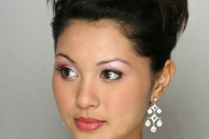 Hair Style , 9 Nice Updo Styles For Medium Length Hair : Wedding Updo Hairstyles for Medium Hair
