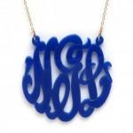 BaubleBar blue monogram necklace , 8 Fabulous Baublebar Monogram Necklace In Jewelry Category
