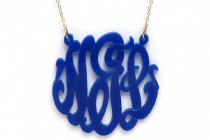 Jewelry , 8 Fabulous Baublebar Monogram Necklace : BaubleBar blue monogram necklace