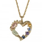 Birthstone Heart Necklace , 8 Amazing Mothers Birthstone Necklaces In Jewelry Category