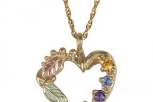Jewelry , 8 Amazing Mothers Birthstone Necklaces : Birthstone Heart Necklace