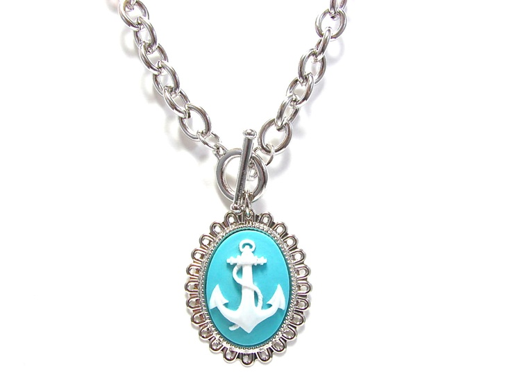 Jewelry , 8 Charming Anchor Necklace Tiffany : Cameo Toggle Necklace