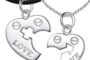 Jewelry , 8 Lovely Two Half Heart Necklaces For Couples : Couples Sterling Silver