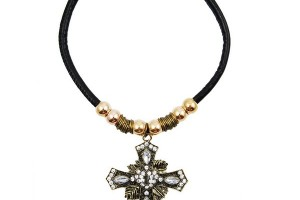 Jewelry , 8 Cool 90s Choker Necklace : Cross Choker Necklace