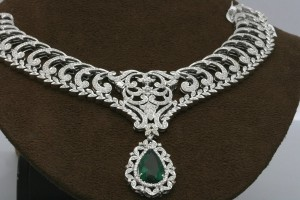 1408x940px 8 Gorgeous Tanishq Diamond Necklace Picture in Fashion