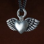 Flying Heart Necklace , 8 Lovely Bewitched Heart Necklace In Jewelry Category
