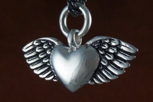 Jewelry , 8 Lovely Bewitched Heart Necklace : Flying Heart Necklace