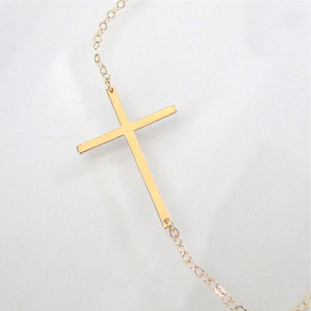 8 Fabulous Sideways Cross Necklaces For Women in Jewelry