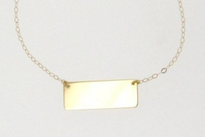 Jewelry , 7 Good Jennifer Meyer Nameplate Necklace : Gold Nameplate Necklace