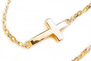 500x417px 8 Nice Gold Sideways Cross Necklaces For Women Picture in Jewelry