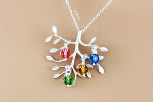 Jewelry , 7 Fabulous Birthstone Necklaces For Grandmothers : Grandmother Birthstone Necklace