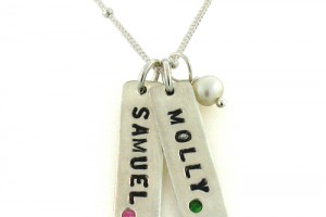 Jewelry , 8 Amazing Mothers Birthstone Necklaces : Hand Stamped Necklaces