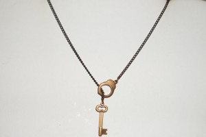 Jewelry , 7 Cool Handcuff Key Necklace : Handcuff Larait Necklace