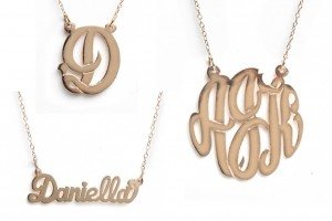 Fashion , 8 Charming Initial Nameplate Necklace : Initial Pendant