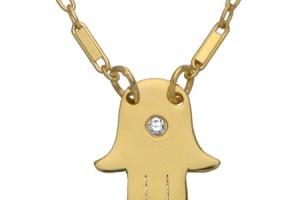 Jewelry , 8 Awesome Jennifer Zeuner Necklace Initials : Jennifer Zeuner Mini Hamsa Diamond Necklace