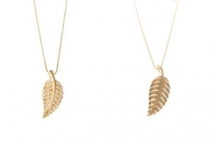 Jewelry , 8 Beautiful Jennifer Meyer Leaf Necklace : Leaf Necklaces