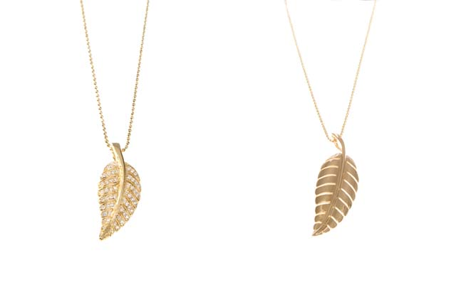 8 Beautiful Jennifer Meyer Leaf Necklace in Jewelry