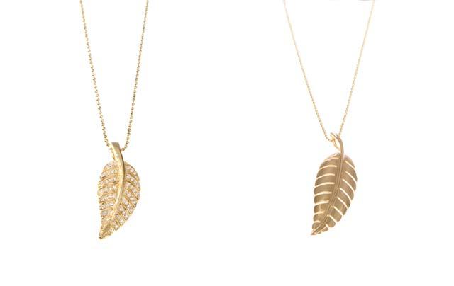 8 Beautiful Jennifer Meyer Leaf Necklace in Jewelry