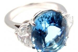 Jewelry , 8 Charming Tiffany Aquamarine Necklace : Moon Diamond Platinum Ring