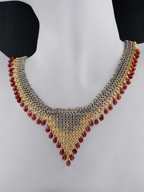 Jewelry , 9 Charming Chainmail Necklace Patterns : NECKLACE PATTERNS