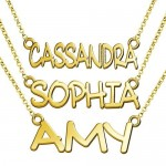 Nameplate Charm And Necklace , 8 Nice Nameplate Necklace White Gold In Jewelry Category