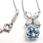 Platinum Necklace , 8 Charming Tiffany Aquamarine Necklace In Jewelry Category