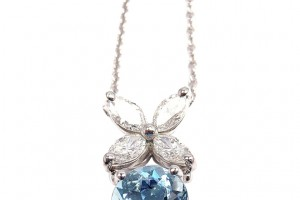 Jewelry , 8 Stunning Aquamarine Necklace Tiffany : Platinum Necklace