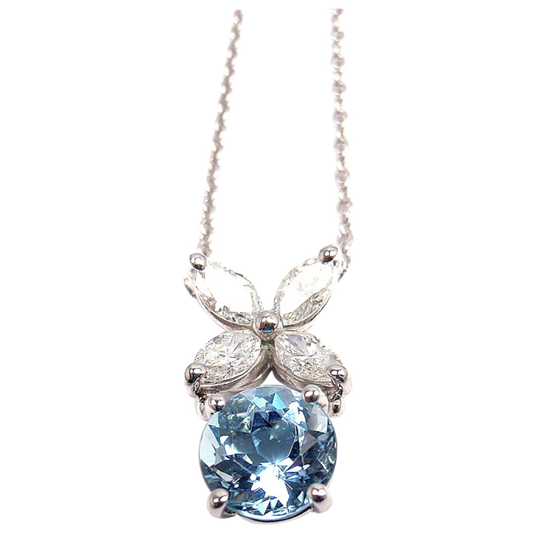 8 Stunning Aquamarine Necklace Tiffany in Jewelry