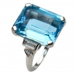 Platinum Ring , 8 Charming Tiffany Aquamarine Necklace In Jewelry Category
