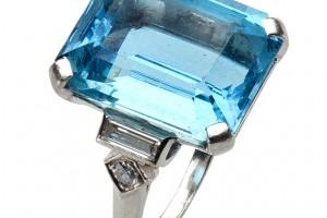 Jewelry , 8 Charming Tiffany Aquamarine Necklace : Platinum Ring