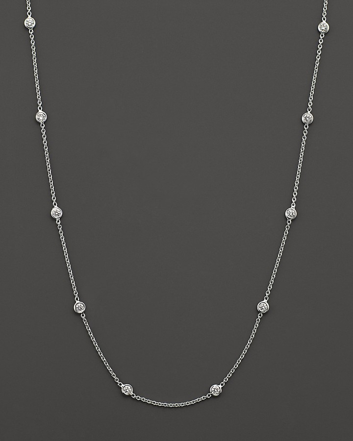 8 Nice Roberto Coin Diamond Station Necklace in Jewelry