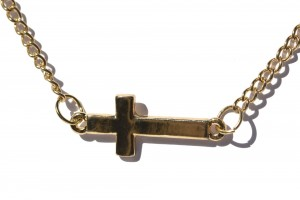 Jewelry , 8 Fabulous Sideways Cross Necklaces For Women : Sideways Cross Necklace Gold