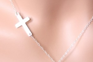 613x655px 8 Fabulous Sideways Cross Necklaces For Women Picture in Jewelry