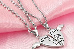 500x421px 8 Lovely Two Half Heart Necklaces For Couples Picture in Jewelry
