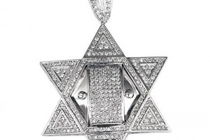 Jewelry , 8 Charming Mens Jewish Star Necklace : Silver Jewish Star Pendant