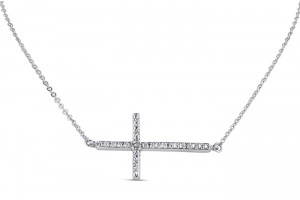 Jewelry , 8 Fabulous Sideways Cross Necklaces For Women : Silver Necklaces