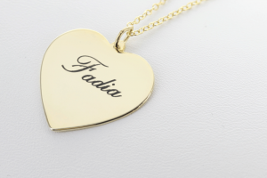 Jewelry , 8 Charming Engravable Heart Necklaces : Silver Personalized Heart Necklace