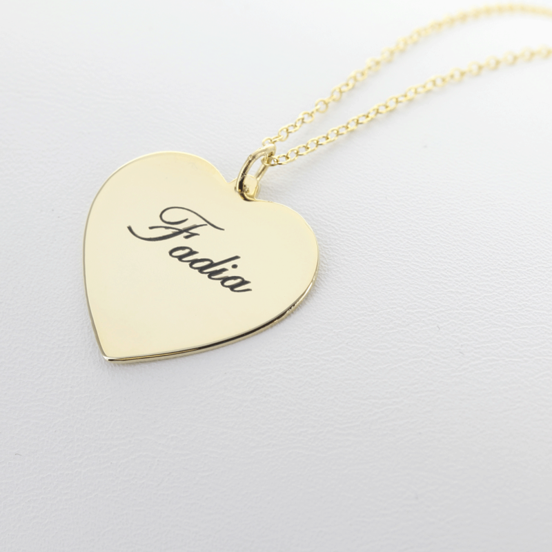 Silver personalized heart necklace 8 charming engravable heart large 800 x 800 aloadofball Choice Image